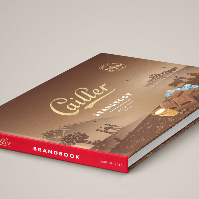 Cailler Suisse Maison Cailler POS packaging brandbook instagram