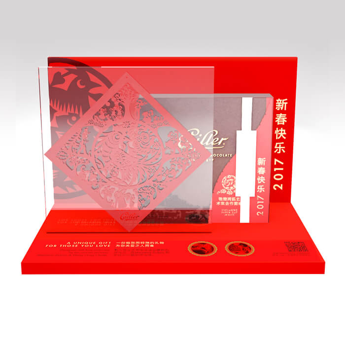 Cailler international CNY retail design shelf packaging premium luxe