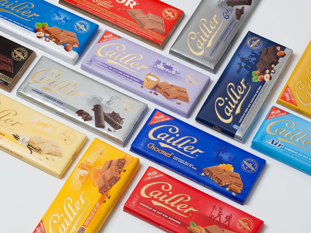 Cailler Suisse Maison Cailler POS packaging brandbook instagram portfolio projets