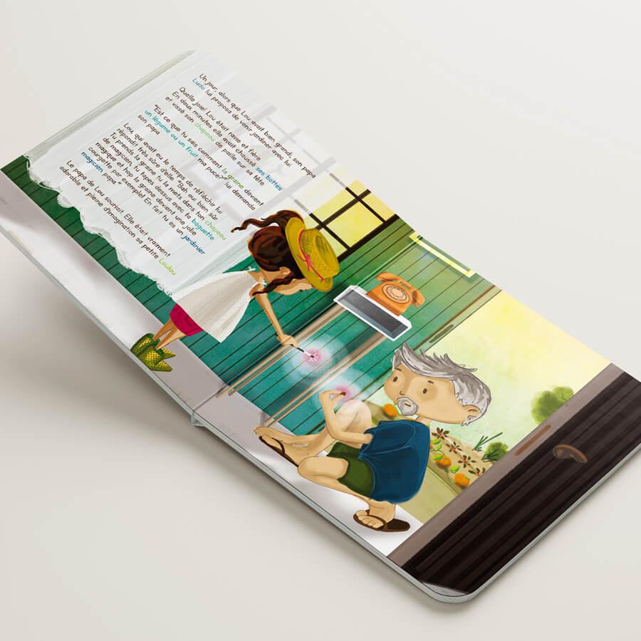 illustrations livre édition jeunesse enfants magique Lou