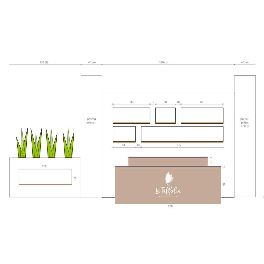 latiffolia identité coiffure branding retail design
