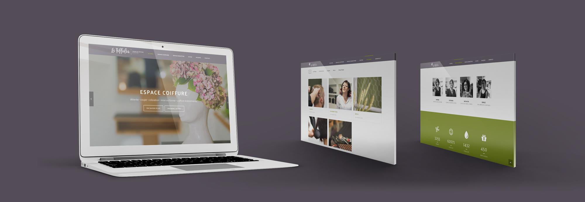 latiffolia identité coiffure branding retail design web mobile