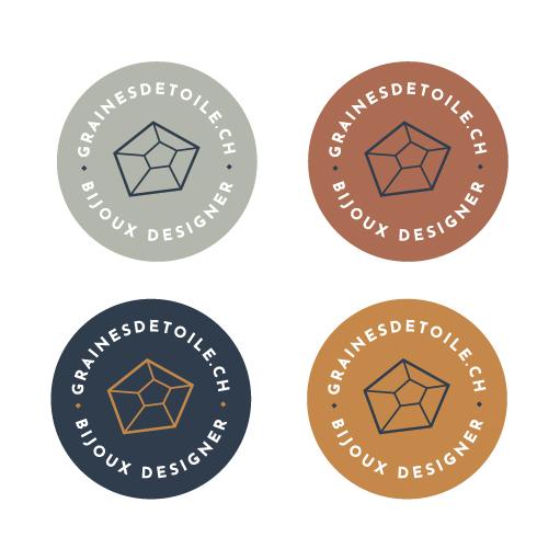 Graine d'Etoile, bijoux, jewelry, branding design par Fany'Fabryk. logo, identité visuelle, papeterie, communication entreprise